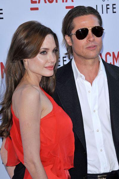 Brad Pitt and Angelina Jolie at Tree of Life premiere