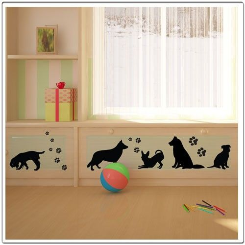 TR-Dog Trail  Wall Decals by Decorette on Etsy, $30.00