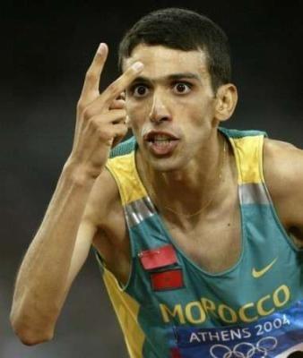 Hicham El Guerouj  1500m Maroc