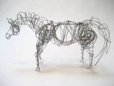 wire sculpture - horse