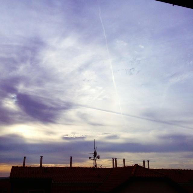 Sky above...