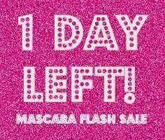 1 day left mascara flash sale