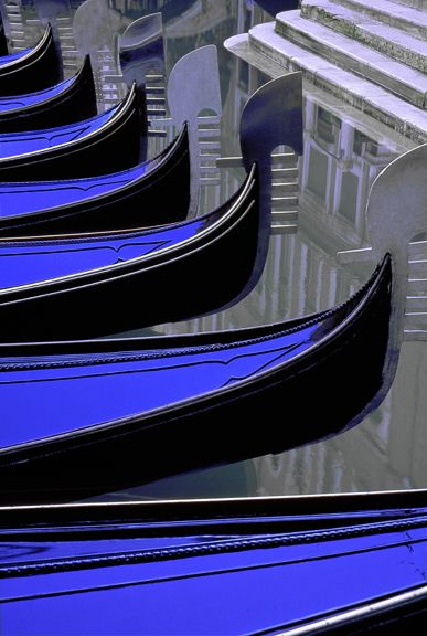 Venice Gondolas - Photograph by Gary Geiger
