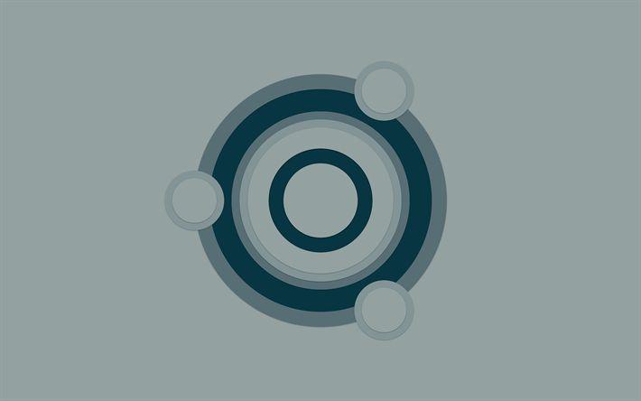 linux arc fond gris - photo #9