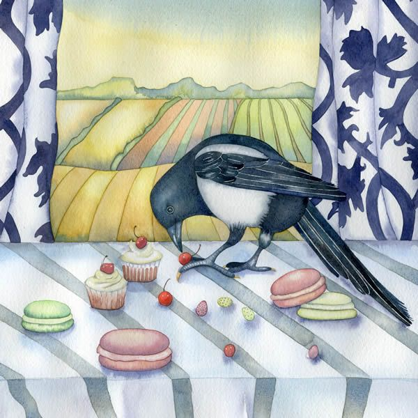 The 473 best greeting cards art cove uk images on pinterest the magpies party a greeting card by british artist kate green the magpies party m4hsunfo