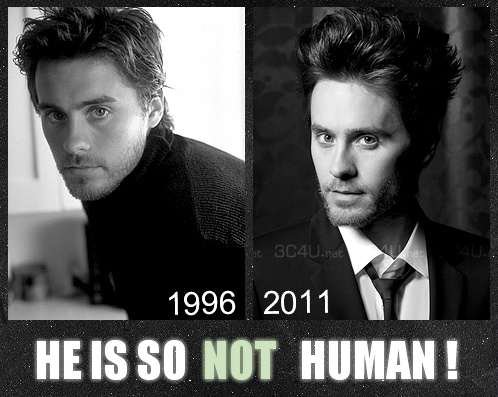 .. yep, a vampire.<---Some age really well and then there are some that don't. Jared has aged really well