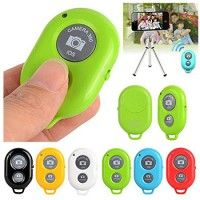 Wireless Bluetooth Remote Control Camera Photo Shutter Release Self Timer for apple 5 5s 5c 4s 4 3GS Samsung Galaxy S3 S4 S5The blue