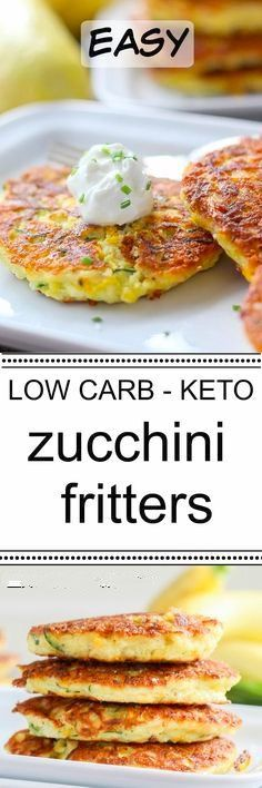 Easy Low Carb Zucchini Fritters Recipe | Keto (VW) | Keto, Low carb, Vegetarian keto