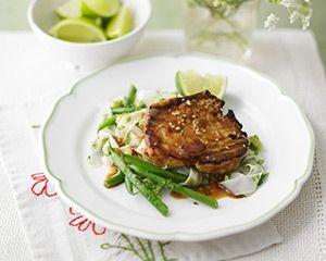 Tuna steaks with sweet chilli glaze