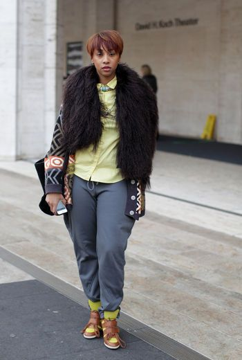 Love the fur and shoes!