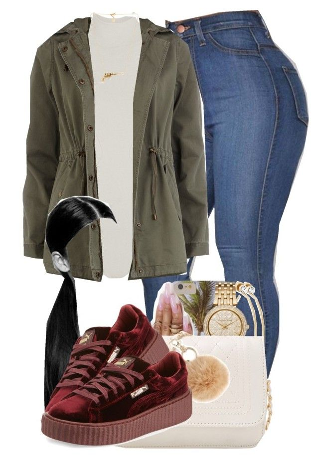 """""""1013"""" by tuhlayjuh ❤ liked on Polyvore featuring Body Editions, Dorothy Perkins, Michael Kors, INC International Concepts, Puma and Schield Collection"""