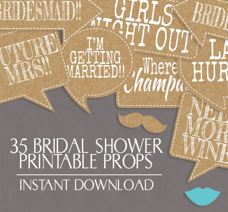 35 Rustic Bridal Shower printable props Photo Booth, Burlap vintage, Printable photobooth boho chic bridal props, Bachelorette party, hen do by YouGrewPrintables on Etsy