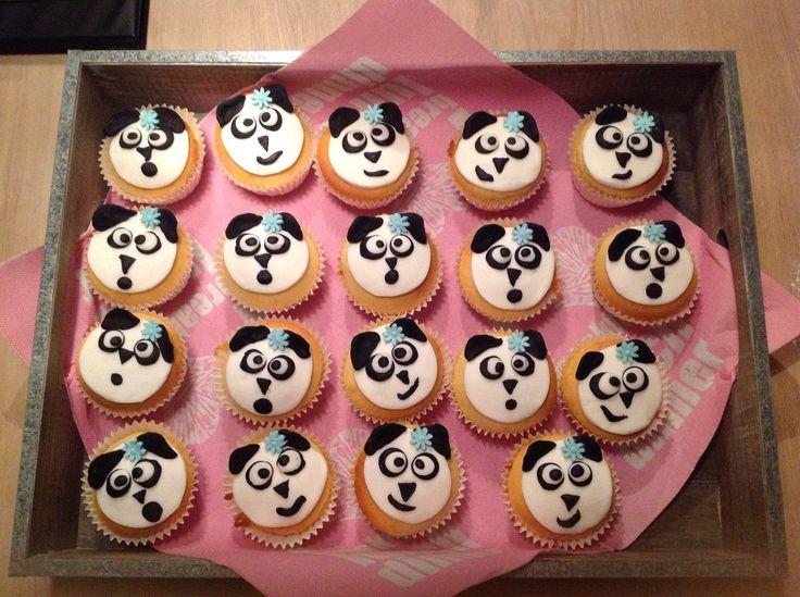 Panda cupcakes voor Madelief