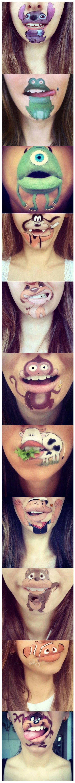 Maquillaje increíble y divertido