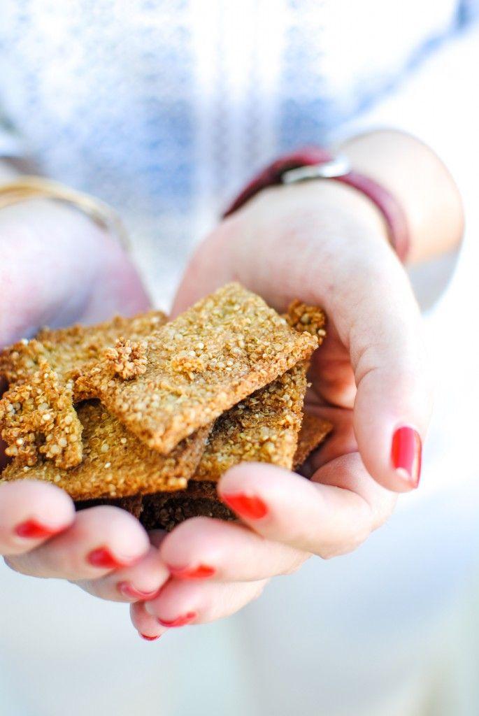 crackers proteicas de quinoa | quinoa protein crackers