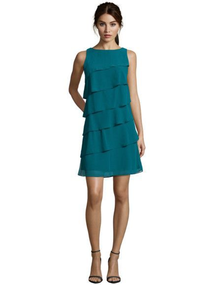 4163444279b6 MARIPOSA Cocktailkleid aus Chiffon im Stufen-Look in Blau   Türkis online  kaufen (9220283)   Kleider Rock   Pinterest