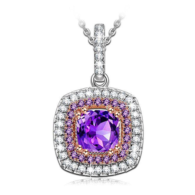 Gifts for Women NINASUN Impression s925 Sterling Silver CZ Pendant Necklace Jewelry for Women Anniversary Gifts for Wife Graduation Gifts for Girl Birthday Gifts for Her Christmas Gifts for Girlfriend