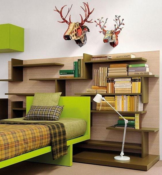 Super Modern Bed & Shelving