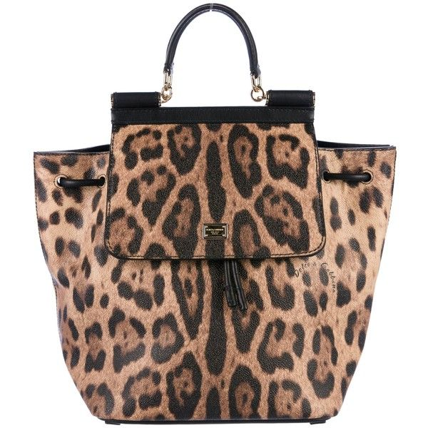 Pre Owned Dolce Gabbana Sicily Leopard Print Backpack 645 Liked On