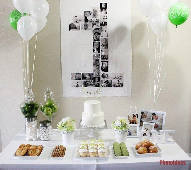 Einfache 1 Geburtstag Banner Korean Dol Dol 한국 Partyideen Boy Birthday Parties Simple 1st Birthday Party Boy Simple Birthday Party