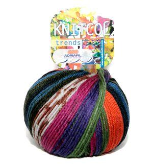 Adriafil50 gr. Ball (mt. 125) in 500 gr. box Composition: 100% wool (superwash merino) - Machine washable, wool cycle Needles: DK - Needles 4-4,5 mm UK7 US7 Gauge 4''=20 sts/29 rows