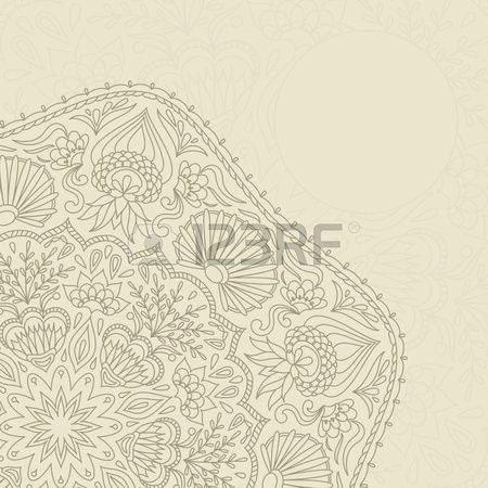 Vector Illustration With Ornament For Greeting Card. Royalty Free Cliparts, Vectors, And Stock Illustration. Pic 13450387.