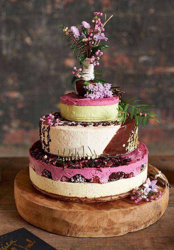 Cheesecake Wedding Cake || Wedding Cake Alternative || Non Traditional Wedding Cake || Modern Wedding Cakes