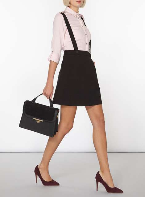 Black Braces Mini Skirt - View All Clothing & Shoes - Clothing - Dorothy Perkins