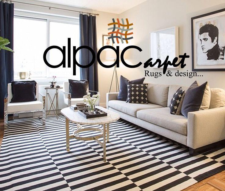 Alfombra en Blanco y Negro muy en moda y muy combinable      Black and white