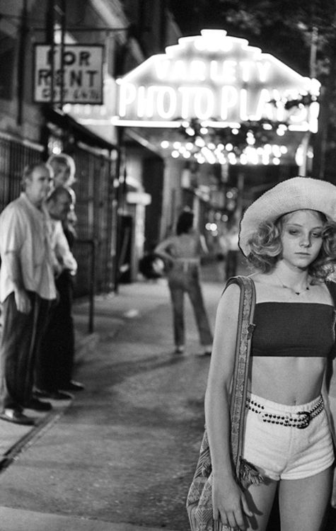 """Jodie Foster in 'Taxi Driver', 1976. """"My definition of a friend is somebody who adores you even though they know the things you're most ashamed of."""""""