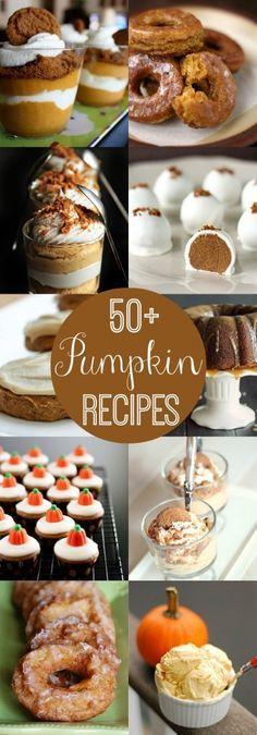 50+ Pumpkin Recipes - A must keep list for that time of year..! { lilluna.com }