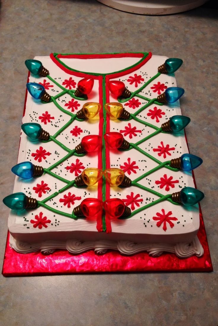 loves mom cake decorations decor baking ugly sweater