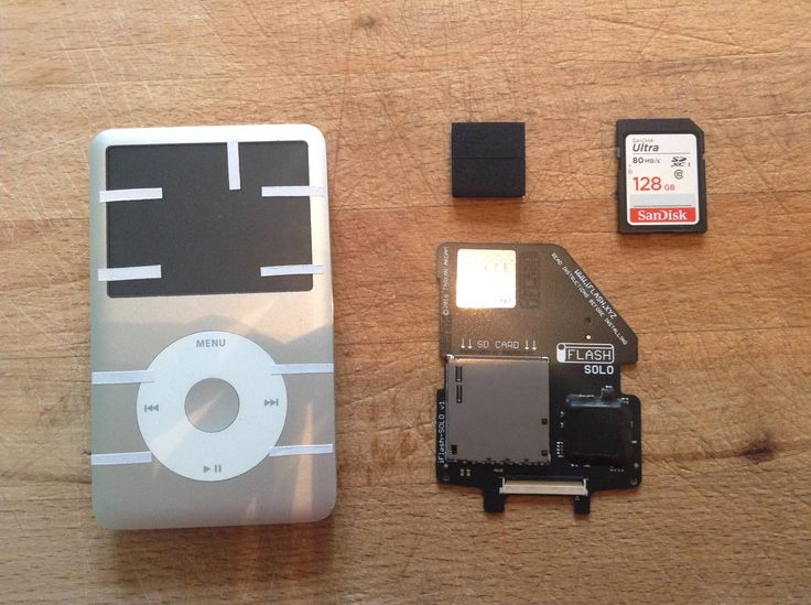 iPod Classic 7th gen HD replacement with iFlash SD card reader