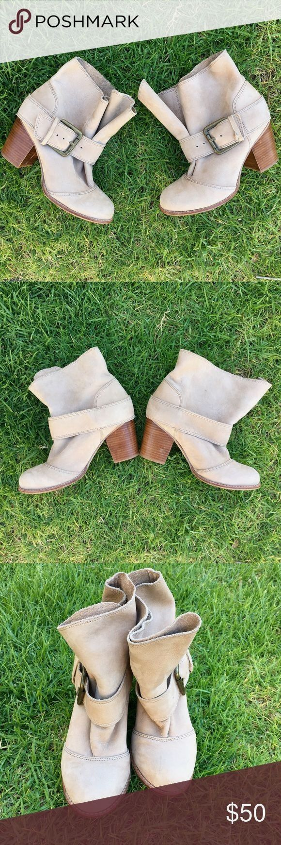 Splendid slouchy buckled booties Splendid buckled booties. In good condition. Straps that hold buckle down has split as you can see in pics but still does it job and holds the strap down. This bootie is meant to be slouchy. Heel is 3 inches high. Size 7. Questions? Offers? Splendid Shoes Ankle Boots & Booties