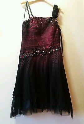 Abito nero donna ballo cerimonia vestito elegante festa gonna tulle matrimonio