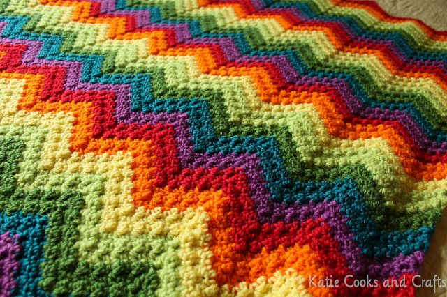 Rumpled Ripple Rainbow Crochet Baby Afghan Pattern. Looks like a great and incredibly easy pattern