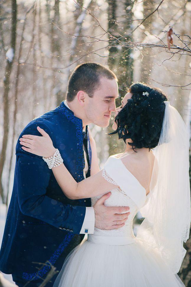 Свадебный фотограф Аня Сагалаева: классная зимняя свадьба! :)