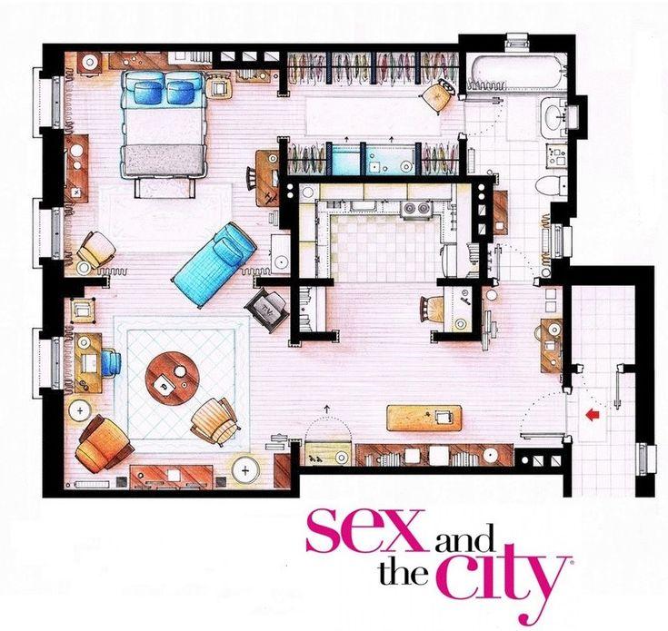 Apartamento de Carrie Bradshaw en 'Sexo en Nueva York'