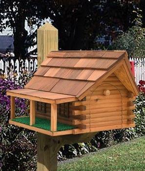 Mailboxes designs peddler cedar log cabin porch mailboxes wooden log cabin mailboxes - Peddlers home design ...