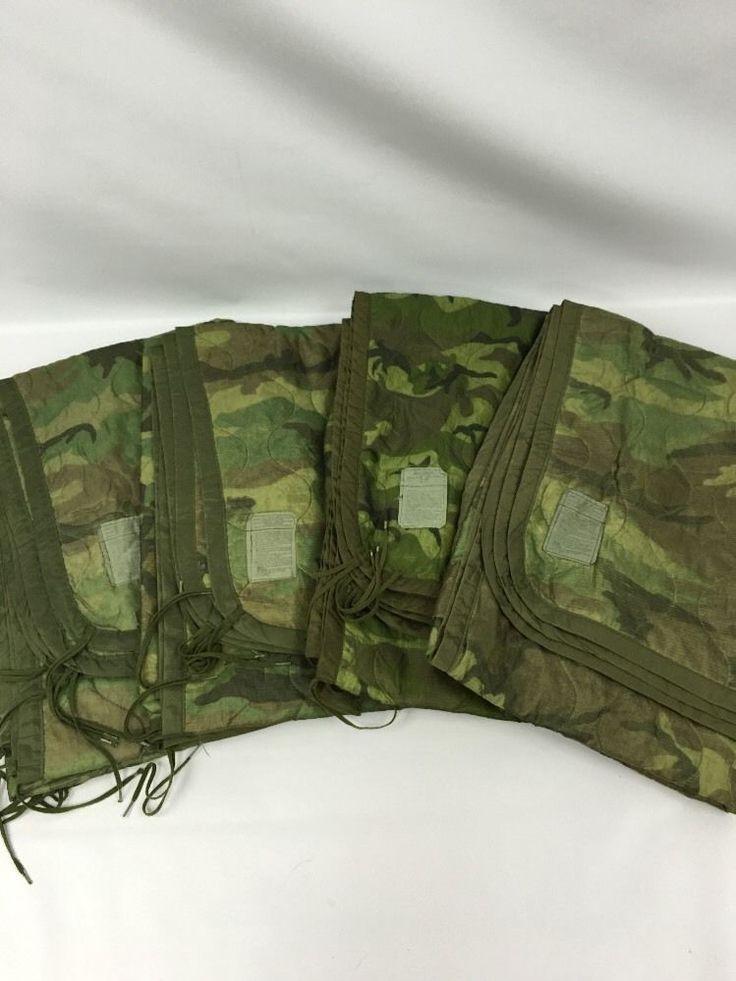 Poncho Liner Woobie Blanket Woodland Camo Us Military