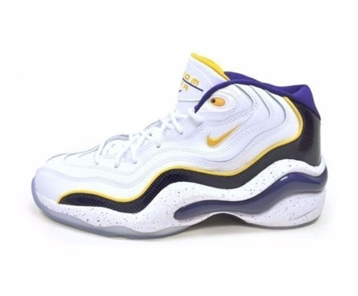 Nike Air Zoom Flight 96 Kobe Bryant Edition Siz 9.5 White/Gold-Purple 317980 NEW #Nike #AthleticSneakers