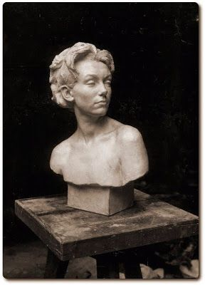 The Student's Head by Daphne Mayo 1921