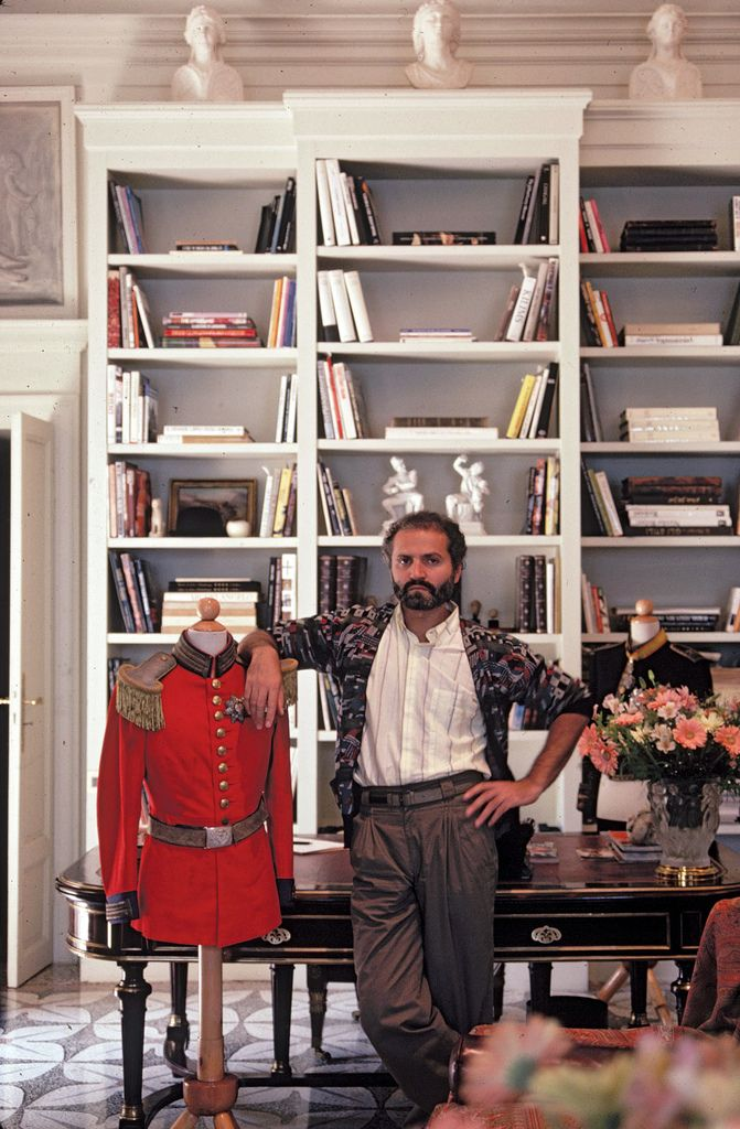 Gianni Versace in his home on Lake Como in 1983