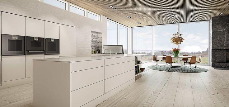 Minimalistisk køkken   Hvidt køkken i nordisk stil fra uno form