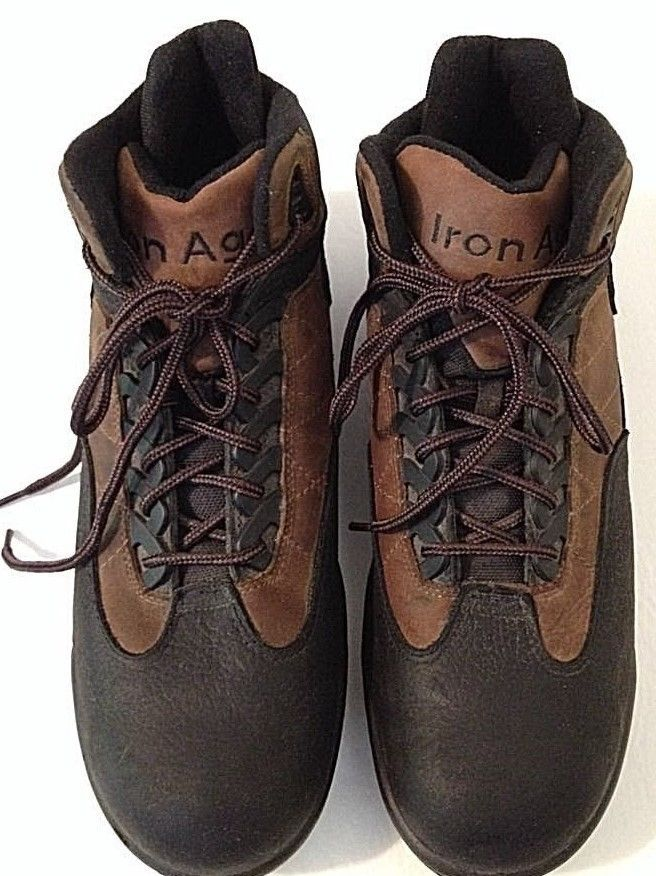 IRON AGE ANSI Z41 PT91 Brown/black Leather Steel Toe Ankle Safety Work Boots 11 #IRONAGEANSI #WorkSafety #WeartoWork