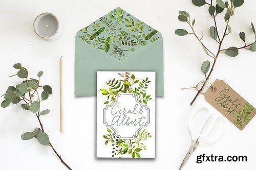 CM - Spring Foliage Watercolor Bundle 1277861