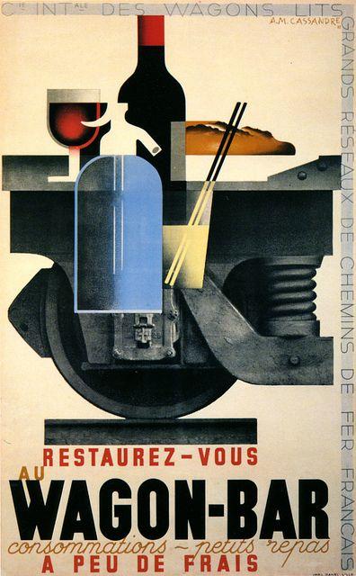 Cartel para los ferrocarriles franceses echo por Cassandre.
