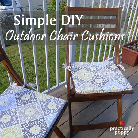 easy to make outdoor chair cushions step by step