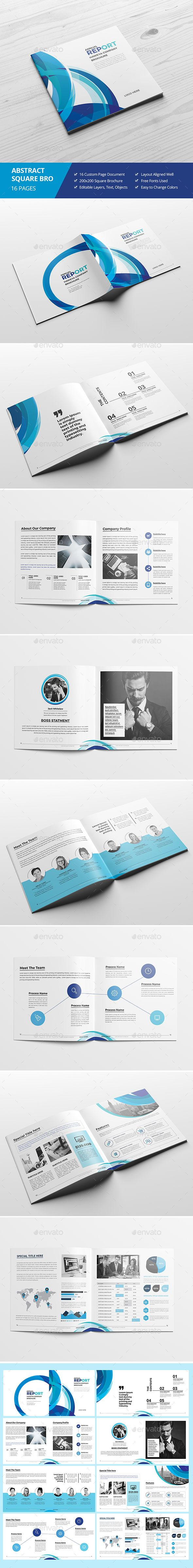 Haweya Abstract Square Brochure Template InDesign INDD. Download here: https://graphicriver.net/item/haweya-abstract-square-brochure-03/17338832?ref=ksioks