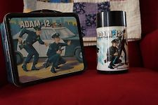 Great Condition Vintage 1972 Adam-12 Police TV Show Metal Lunchbox With Thermos!